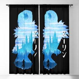 Minimalist Silhouette Merlin Blackout Curtain