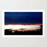 Summer horizon Art Print