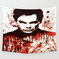 dexter Wall Tapestries featuring Dexter by Alycia Plank