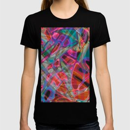 Colorful Abstract Stained Glass G297 T-shirt