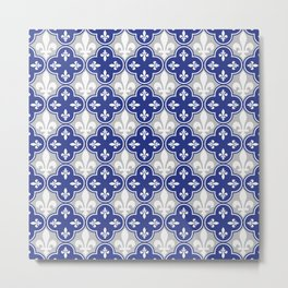 Quebecois Quebec Flag Seamless Pattern Metal Print