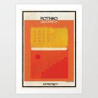 rothko Art Prints featuring Rothko+legorreta by federico babina