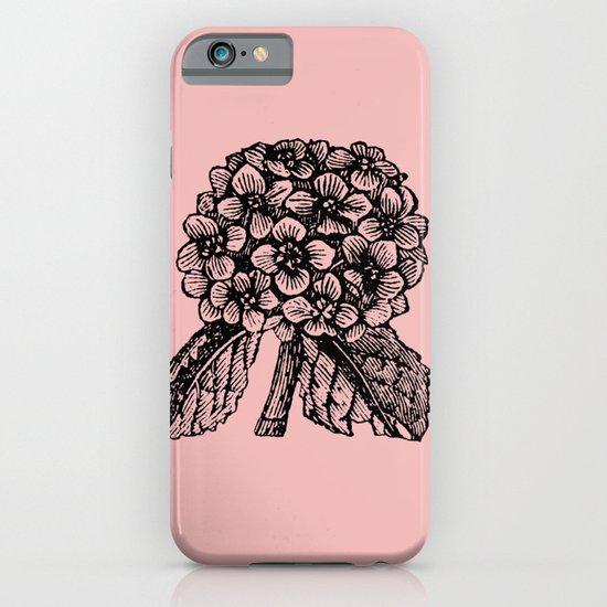 Pink Hydrangea iPhone & iPod Case