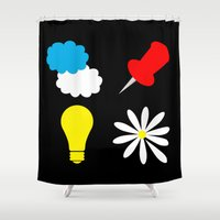 paper towns Shower Curtains featuring John Green Books - Fault In Our Stars, Abundance Katherines, Paper Towns, Alaska by denise