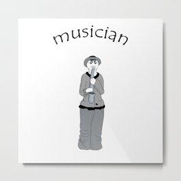 musician Metal Print