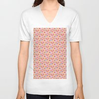 jelly fish V-neck T-shirts featuring Jelly Fish by Apple Kaur