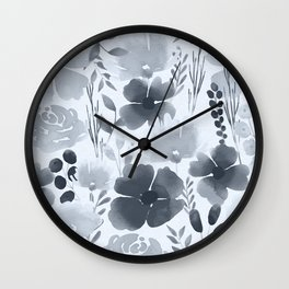 Watercolour background with variety of flowers XVII Wall Clock