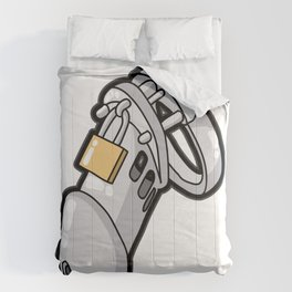 MALE CHASTITY DEVICE CUCKOLD SLAVE SUB Penis Cage Comforters