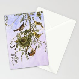 Sky Blue Pink with birds Stationery Cards
