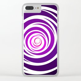 Spinnin Round Purple Clear iPhone Case