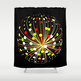 Multi Color Abstract Explosion Shower Curtain