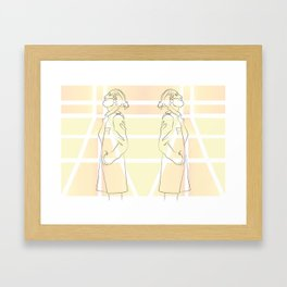 Yellow Thoughts Framed Art Print