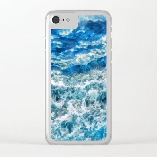 Sea foam waves Clear iPhone Case