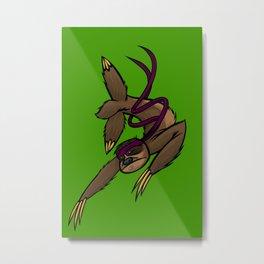 Ninja Sloth Metal Print
