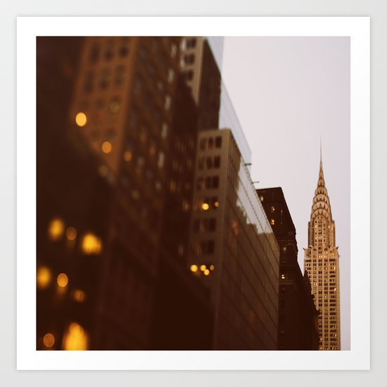 Bright Lights, Big City Art Print