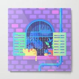 Windowsill Basking Metal Print