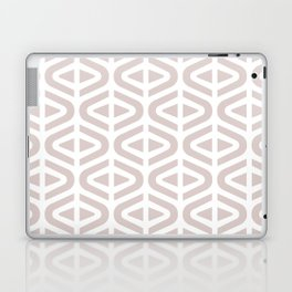 Mid Century Modern Split Triangle Pattern Light Beige Laptop & iPad Skin