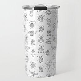 Insects pattern (White) Travel Mug