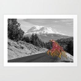 Unseen Monsters of Mount Shasta - Laskkii Squintleek Art Print
