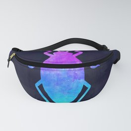 COCKROACH IN SPACE // Animal Graphic Art // Watercolor Canvas Painting // Modern Minimal Cute Fanny Pack