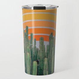 Cactus and Rainbow Travel Mug