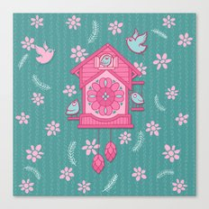 Cuckoo Time pink Canvas Print