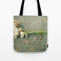 clover Tote Bags featuring clover by Beverly LeFevre