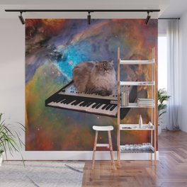 Cat on a Keyboard in Space                                                       Wall Mural