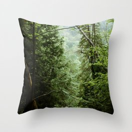Deep Green Forest Throw Pillow
