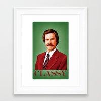 classy Framed Art Prints featuring CLASSY by John Medbury (LAZY J Studios)