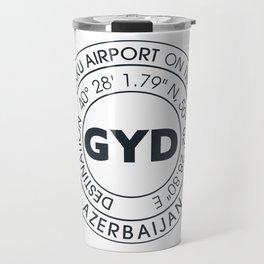 GYD BAKU AZERBAIJAN airport code sticker Travel Mug