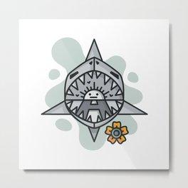 shark splash Metal Print