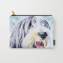 Bearded Collie Head Study Carry-All Pouch