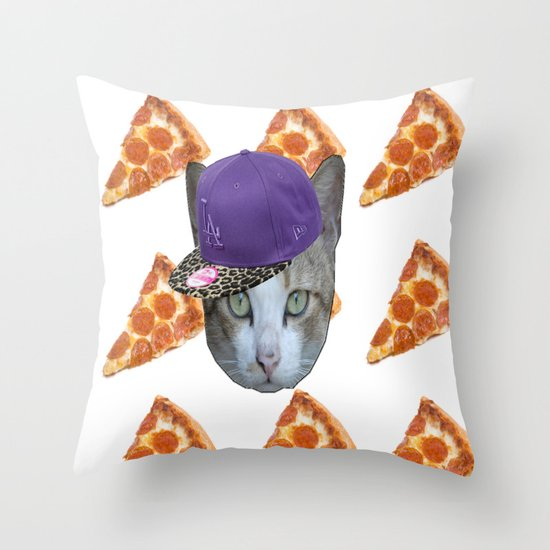 Pizza Cat Throw Pillow