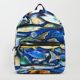 DEEP SALTWATER FISHING COLLAGE Backpack