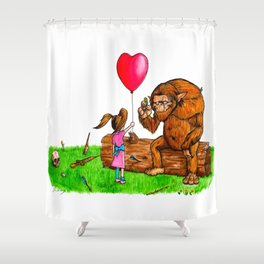 Wolfgang's New Friend Shower Curtain
