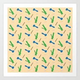 Bongs, Blunts, Joints Pattern Art Print