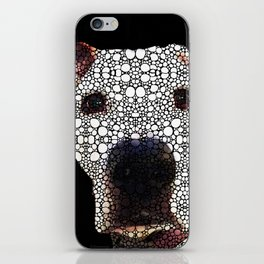 Stone Rock'd Dog 2 by Sharon Cummings iPhone Skin