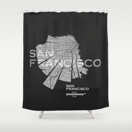 San Francisco Map Shower Curtain