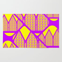 City of Violets and Yellows Rug
