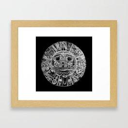 Inti - Sun God - Inca civilization - Gold Disk - Pre-Columbian cultures Framed Art Print