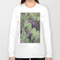 succulents Long Sleeve T-shirts featuring Succulents by AM Prono