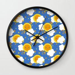 Celestial Kawaii Wall Clock