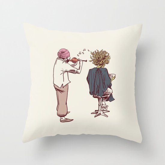 New Hairstyle Throw Pillow
