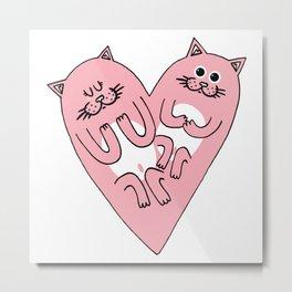 Cat heart Metal Print