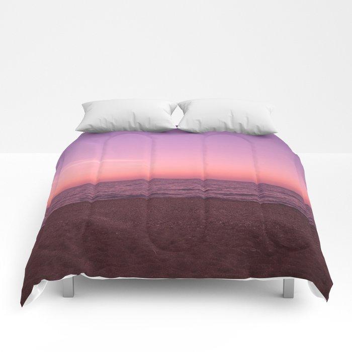 Sunset in Camini Comforters