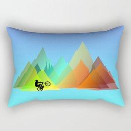 MTB Moutains Colors Rectangular Pillow