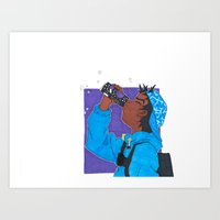 Grape Drank Art Print