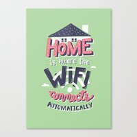 risa rodil Canvas Prints featuring Home Wifi by Risa Rodil