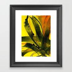Yellow Plant Life Framed Art Print